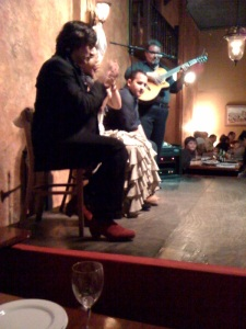 Flamenco dancers and band at La Barraca.