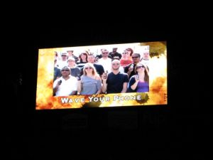 Audience participation video, on the jumbotron.